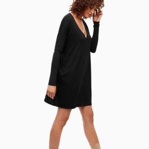 Aritzia WILFRED FREE Gail Tunic Dress Black S